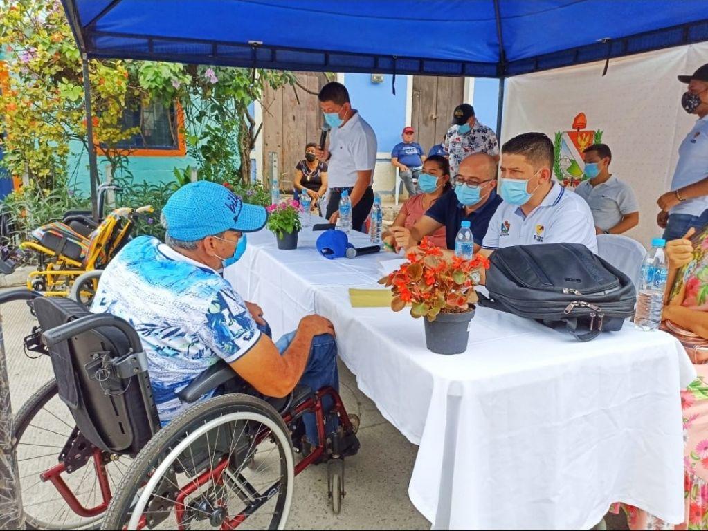Ayudas para personas con discapacidad siguen llegando a más rincones del departamento