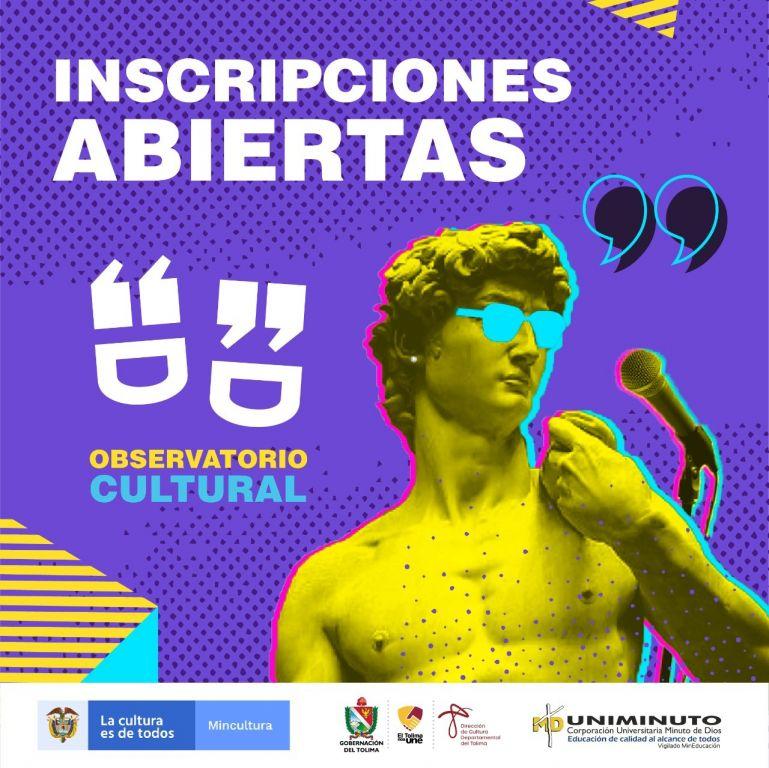 ¿Eres artista? Inscríbete y haz parte del Observatorio Cultural del Tolima