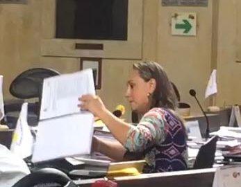 Linda Esperanza Perdomo, concejal. Cambioin