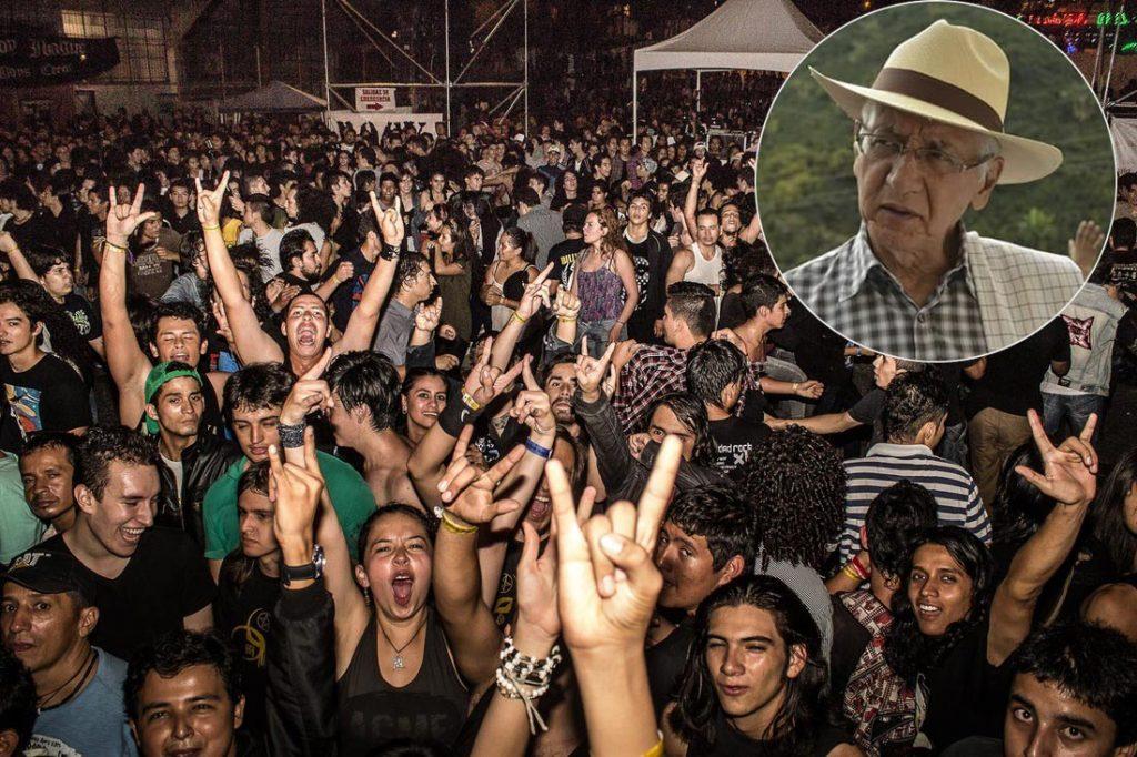 Festival Rock tomado de apoyo, Guillermo Alfonso Jaramillo. Cambioin